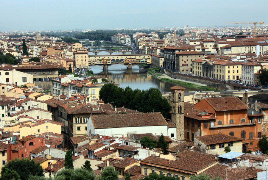 Vistas panorámicas de Florencia desde piazzale Michelangelo