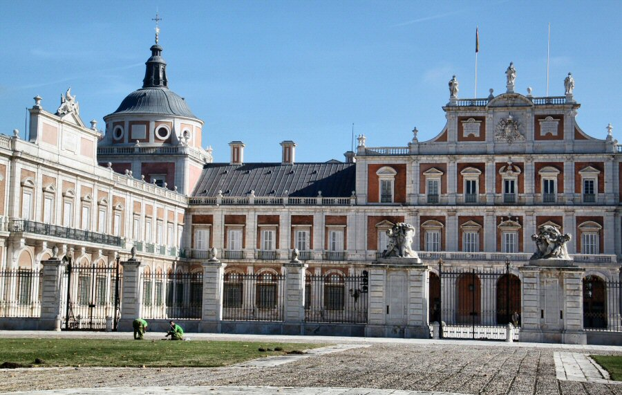 Palacio Real de Aranjuez en los alrededores de Madrid