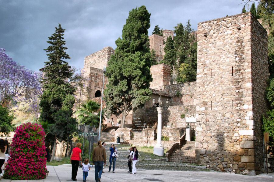 Alcazaba de Málaga en Andalucía