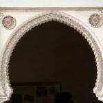Arcos en el interior del Pabellón de la Alcazaba de Málaga
