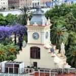 Torre del Ayuntamiento de Málaga desde los miradores de la Alcazaba