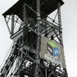 Castillete del Pozo San Luis del Ecomuseo minero de Samuño en Asturias