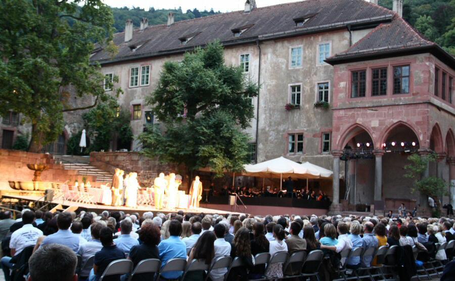 El Principe Estudiante en el patio del Castillo de Heidelberg