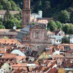 Iglesia de los Jesuitas de Heidelberg desde el paseo de los Filósofos en Alemania