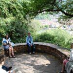 Mirador de Heidelberg desde el paseo de los Filósofos en Alemania