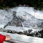 Plano antiguo de Heidelberg en el paseo de los Filósofos en Alemania