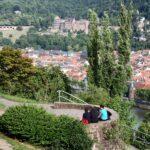 Mirador en los jardines de los Filósofos de Heidelberg en Alemania