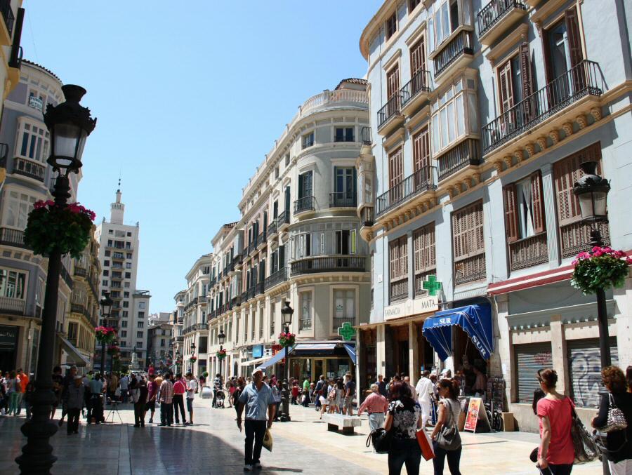 Calle Larios en el centro histórico de Málaga