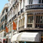 Fachada del Hotel Larios en la calle Larios en el centro histórico de Málaga