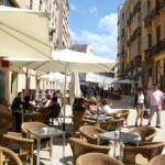 Terrazas en el centro histórico de Málaga