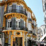 Edificio del centro histórico de Málaga