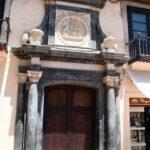 Rincón de la plaza de la Constitución en el centro histórico de Málaga