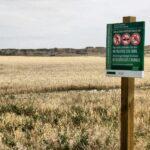 Zona de acceso protegido en el parque natural de Bardenas Reales en Navarra