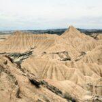 Vistas panorámicas del parque natural de Bardenas Reales en Navarra