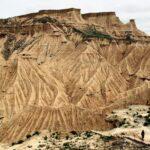 Paisajes del parque natural de Bardenas Reales en Navarra