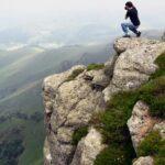 Paisajes del monte Aezkoa de Irati en los Pirineos de Navarra