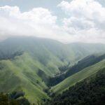Paisajes del monte Aezkoa en Irati de los Pirineos de Navarra