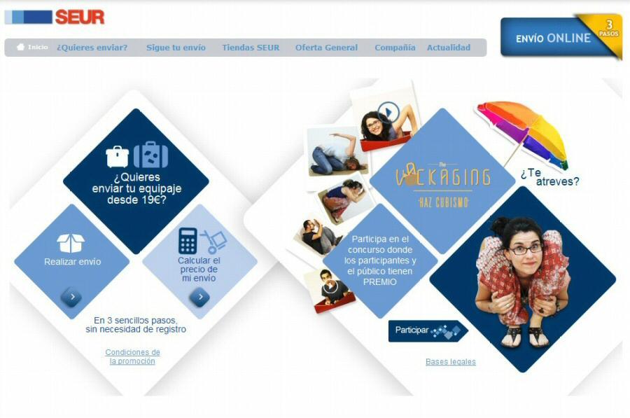 Contratación online para enviar maletas y equipajes por Seur