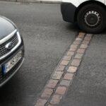 Cicatriz del Muro de Berlín junto a Checkpoint Charlie