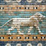 Leones de la Puerta de Ishtar de Babilonia en el Museo Pérgamo de Berlín