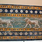 Leones de la Puerta de Ishtar de Babilonia en el Museo Pergamo de Berlín