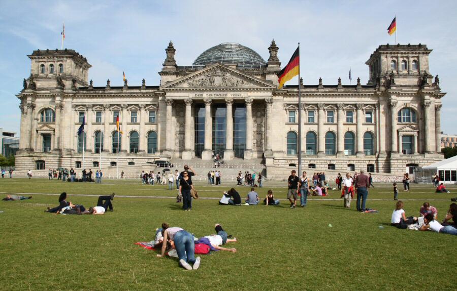 Reichstag, edificio del Parlamento alemán en Berlín