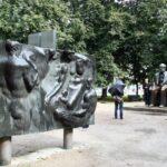 Marx Engels Forum, monumento en Alexanderplatz en Berlín