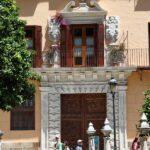 Fachada de una casa del centro histórico de Málaga