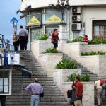 Escalera conocida como Tribuna de los Pobres en el centro de Málaga