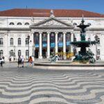 Plaza del Rossio en la Baixa de Lisboa