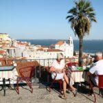 Mirador en Santa Lucía en Lisboa