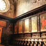 Coro en la iglesia del Monasterio de los Jerónimos en Belem en Lisboa