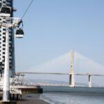 Torre y Puente Vasco de Gama en el Parque de las Naciones de Lisboa