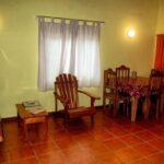 Salón de la casa Luna Naranja en Puerto Viejo en Costa Rica
