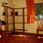 Salón en la casa de alquiler Samadhi en Puerto Viejo en Costa Rica