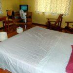 Dormitorio en la casa de alquiler Samadhi en Puerto Viejo en Costa Rica