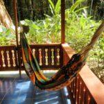 Porche de la casa de alquiler Samadhi en Puerto Viejo en Costa Rica