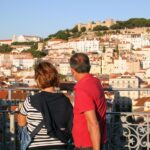 Vistas panorámicas de Lisboa desde el Elevador de Santa Justa