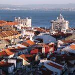Vistas panorámicas de la Baixa desde el Elevador de Santa Justa en Lisboa