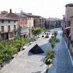 Plaza de Carlos III el Noble desde el Castillo de Olite en Navarra