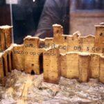 Maqueta de las ruinas del Castillo Palacio Real de Olite de Navarra antes de su reconstrucción