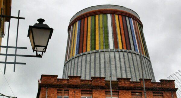 Antigua torre de refrigeración en MUSI Museo de Siderurgia de Asturias en La Felguera
