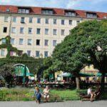 Plaza central del antiguo barrio medieval de San Nicolás en Berlín