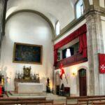 Interior de la iglesia de Santa Lucía en Lisboa