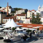 Vistas panorámicas desde mirador Puertas del Sol en Lisboa