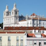 Iglesia San Vicente de Fora desde mirador Puertas del Sol