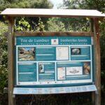 Cartel informativo de la Foz de Lumbier en Navarra