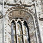 Detalle de la fachada sur de la iglesia del Monasterio de los Jerónimos en Lisboa