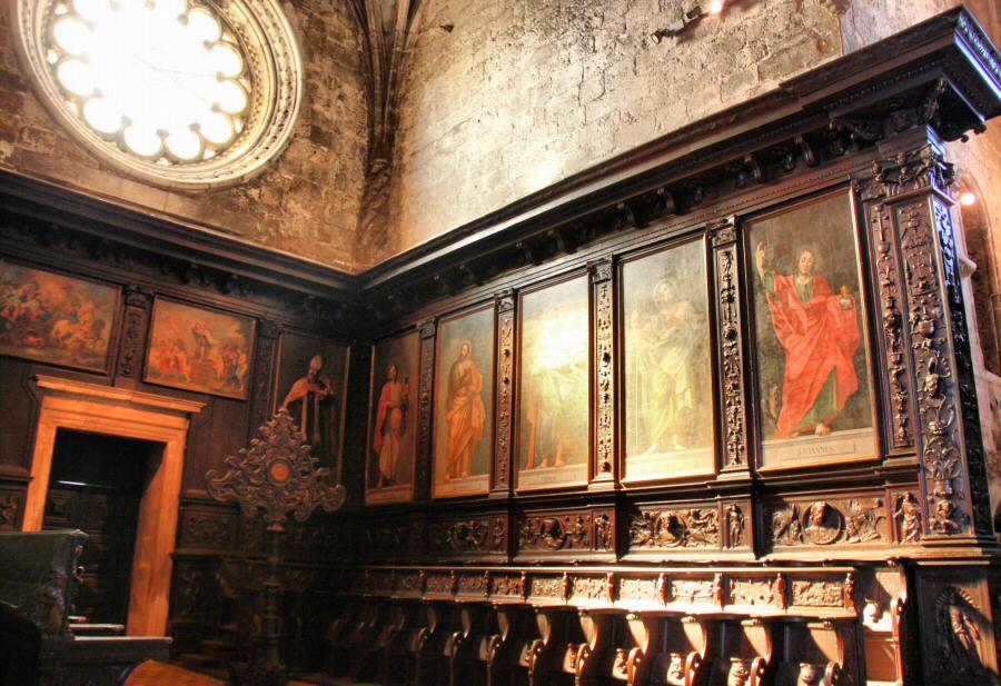Coro de la iglesia del Monasterio de los Jerónimos de Belem en Lisboa