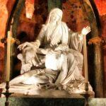 Grupo escultórico en el Trascoro de la Catedral de Málaga